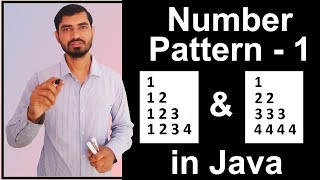 Number Pattern - 1 Program (Logic) in Java by Deepak