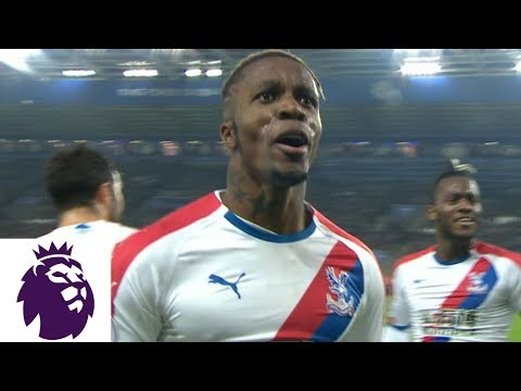 Video: WIlfried Zaha's volley extends Crystal Palace's lead v. Leicester City | Premier League | NBC Sports