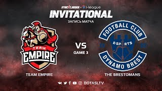 Team Empire против The Brestomans, Третья карта, SL i-League Invitational S4 СНГ Квалификация