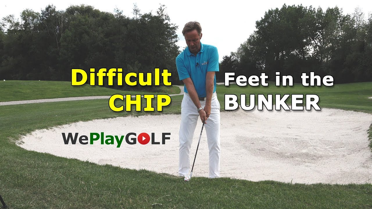 2 tips on how to chip with your feet in the bunker