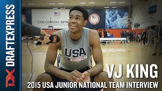 VJ King 2015 USA Basketball Mini-Camp Interview