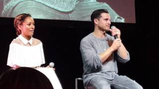 BloodyNightCon 2016 - Kat Graham and Michael Malarkey // Singing together Video