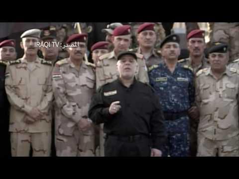 رئيس الوزراء العراقي حيدر العبادي يعلن النصر ضد ''الوحشية والإرهاب'' في الموصل يوم 10 تموز/يوليو، بعد أن أنهت قواته حكم تنظيم 'الدولة الإسلامية' على ثاني أكبر المدن في البلاد.