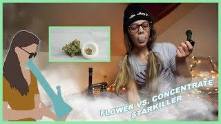 FLOWER VS. CONCENTRATE | STARKILLER by Jenny Wakeandbake
