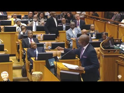 Drama In Parliament - Mmusi Maimane vs Jacob Zuma