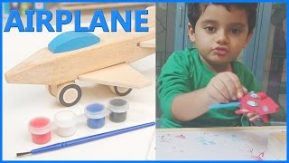 Airplane Toys For Kids And Children  Airplane Toy Videos  Airplane Coloring In this video you will see this kid happily enjoying coloring an airplane and also fixing the parts. A simple fun video! Hope you enjoy watching it!
