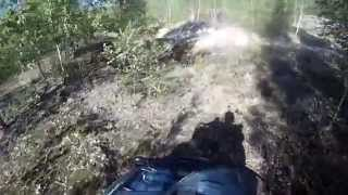 10. Part 1.1 Arctic Cat 700 TRV Off Road Trail in the opencast Mine