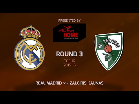 Highlights: Top 16, Round 3, Real Madrid 92-86 Zalgiris Kaunas