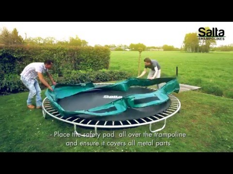 SALTA Excellent Ground Rechthoek 1m53 x 2m14 | Montage trampoline