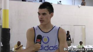 Steven Adams DraftExpress 2011 adidas Nations Interview & Practice Footage