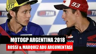 Video MotoGP Argentina 2018 | MEMANAS!! Rossi dan Marquez saling Adu Argumentasi MP3, 3GP, MP4, WEBM, AVI, FLV April 2018