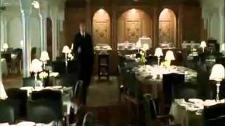 Titanic 1997. Deleted scene. Jack and Lovejoy fights in the floating dining room.