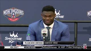 Zion Williamson Is Excited To Play For The New Orleans Pelicans by Bleacher Report