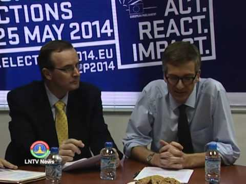 Lao NEWS on LNTV: The EU delegations vow EU's relationship with Laos will be unchanged.27/5/2014
