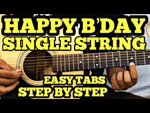 Happy Birthday Guitar Tabs/Lead Lesson | SINGLE STRING | Easy Guitar Song For Beginners | FuZaiL