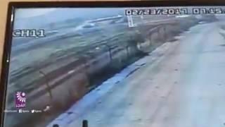 لحظة وفاة طالبة من جامعة خضوري في حادث سير صباح اليوم