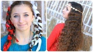 No-Heat Bandana Curls | Overnight Hairstyles - YouTube