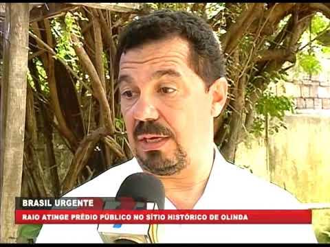 [BRASIL URGENTE PE] Raio atinge prédio público no Sítio Histórico de Olinda