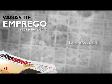 Oportunidades de emprego na Cidade de Santos e região de 21 a 26/11/2017.