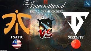 Тёмная ЛОШАДКА в БОРЬБЕ за ЖИЗНЬ на TI8 | Fnatic vs Serenity (BO1) | The International 2018