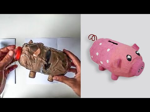 Bricolage: Tirelire cochon