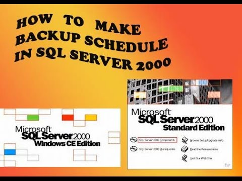 How to create a backup Maintenance Plan in SQL Server 2000