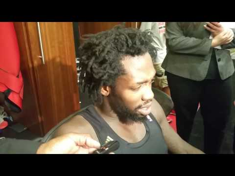 Patrick Beverley after the Rockets beat the Sharks