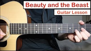 Beauty and the Beast - John Legend Ariana Grande | Guitar Lesson (Tutorial) How to play Chords