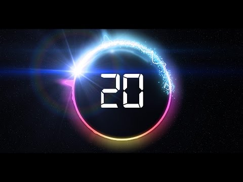 Countdown Timer 20 Sec ( V 466 ) News Theme - Circle Equalizer Effects With Sound HD 4k!