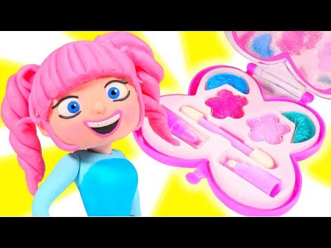 New hairstyle - PRINCESS NEW MAKE UP AND HAIRSTYLE  SUPERHERO PLAY DOH CARTOONS FOR KIDS