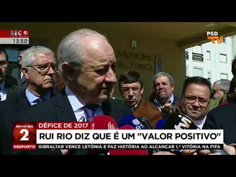 Declarações à imprensa de Rui Rio sobre o défice de 2017