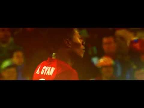 Asamoah Gyan en el Mundial Sudáfrica 2010