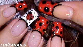Ladybug Nails For Short&Long Nails