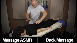 Back Massage for Visual Relaxation & ASMR This video is to help people relax and experience the effect of ASMR.  This video is 2 parts: 1st is normal back massage, arms & legs.  2nd 11:00 i wanted to try something that i have absolutely no idea what it is but i loved it.  Reference video with about 1000 views from me ! https://www.youtube.com/watch?v=rt6etLZn__E&I very nice viewer contacted me and it is called holistic pulsinghttp://www.holisticpulsing.org.nz/?page_id=130 Health benefits of massage might be: relaxation, sleep, stress relief, anxiety, lower back pain relief, better circulation & removing knots and blockage in the body to aid with the natural healing process & better blood circulation around the body.Massage is one of the best ways to help the body reduce tension and relax, to much in our daily live to we focus on work that leave very little time for family, friends and more importantly ourselves.  It is important to take some time out of your busy lifestyle to treat your body with some relaxing massage, or deep tissue massage.Watching Massage can be both relaxing and beneficial to the viewer also, ASMR is sometimes triggered watching someone receive a massage.If you would like to help support you can in a number of ways:Patreon a monthly amount suggested $1 http://www.patreon.com/massageasmrDonation through Paypal: https://www.paypal.com/cgi-bin/webscr?cmd=_s-xclick&hosted_button_id=2GLQ475T9F8GUI am an Amazon Associate, by clicking on links you will go to Amazon's website, if you purchase anything from amazon you will help support me.Dr Dmitri Wears Gunnar Glasses this would be close model http://amzn.to/1GupFHLVideo:Canon C100 MkII http://amzn.to/17PmifTCanon 70D http://amzn.to/1w1cRFiOld Camera Panasonic HMC-152EN http://amzn.to/1qzbzhOCamera LensCanon EF-S 18-135mm STM Lens http://amzn.to/1AFQCAjCanon EF-S 18-55mm 2.8 IS Lens http://amzn.to/1AFQPDxRokinon 35mm 1.5T Cine http://amzn.to/1AFR1CMRokinon 85mm 1.5T Cine http://amzn.to/1AFRaGcAudioMic P