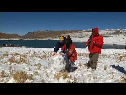 Χιονίζει στη Βολιβία
