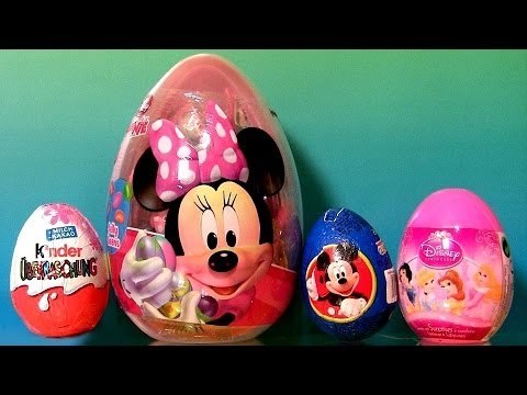 minnie - Disney Collector presents 22 Surprise Easter Eggs from Cartoon Movie Characters such as Peppa Pig Nickelodeon, Disney Junior Minnie Mouse, Kinder Surprise eg...