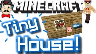 Minecraft TINY HOUSE ! Micro Mansion - Has Everything !
