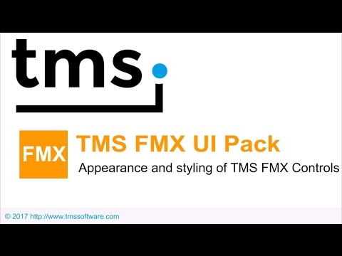 Appearance and styling of TMS FMX UI Controls