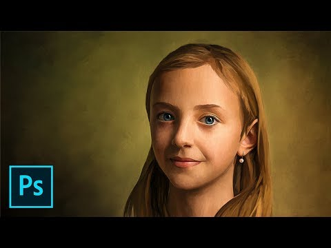 Transform A Photo To A Realistic Oil Painting - Photoshop Tutorial