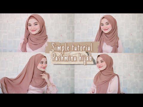6 cara sederhana memakai hijab pashmina || tutorial hijab lebaran, keundangan & kuliah