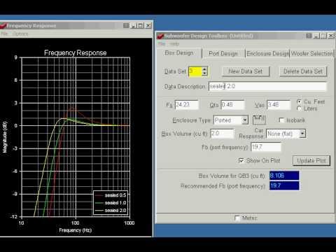 Subwoofer Box Calculator >> Subwoofer Box Calculator Software Instalseasources