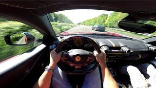 Video Ferrari 812 Superfast 320 km/h on Autobahn! - ORGASMIC SOUND! MP3, 3GP, MP4, WEBM, AVI, FLV Januari 2019