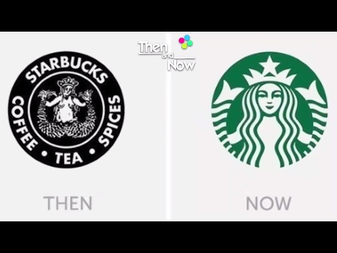 10 Famous Company Logos - Then and Now