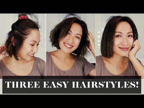 Three Easy Hairstyles For Short Hair  Laureen Uy