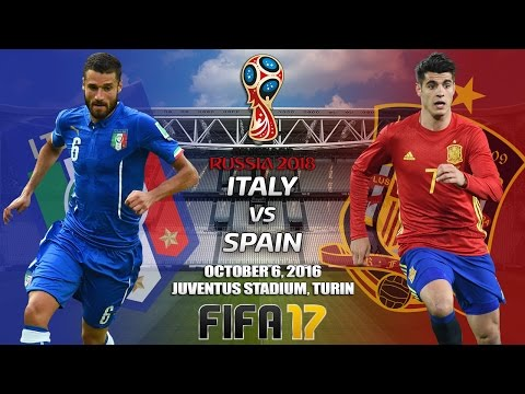 FIFA 17 Predictions: Italy vs. Spain | FIFA World Cup Qualifier | 06/10/2016