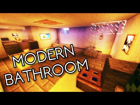 Minecraft Tutorial #14 - How to Build a Large Modern Bathroom (HD)