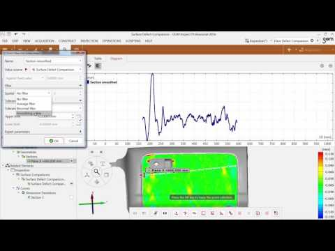 GOM Software 2016 - Inspection Extract Values from Surface Analysis