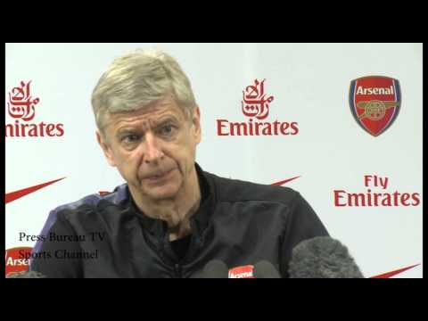 Wenger - Arsene Wenger Pre Arsenal vs Wigan.