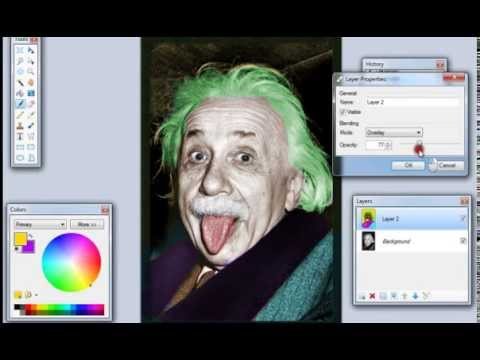 Paint.Net - How to Add Color to a Black and White Image