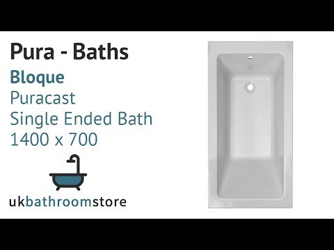 Pura - Bloque Puracast Single Ended Bath 1400 x 700 - PBBQSE14X7